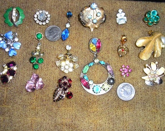 Colorful lot earring singles crafting jewelry