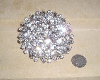 Stunning Vintage Unsigned Weiss Large Snowflake Brooch With Clear  Rhinestones Baguettes Early 1950u0027s Jewelry C36