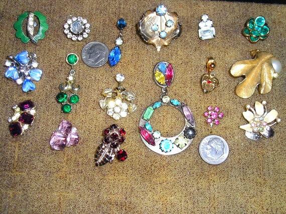Lot Of Single Odd Earrings Faux Pearls Cabochons