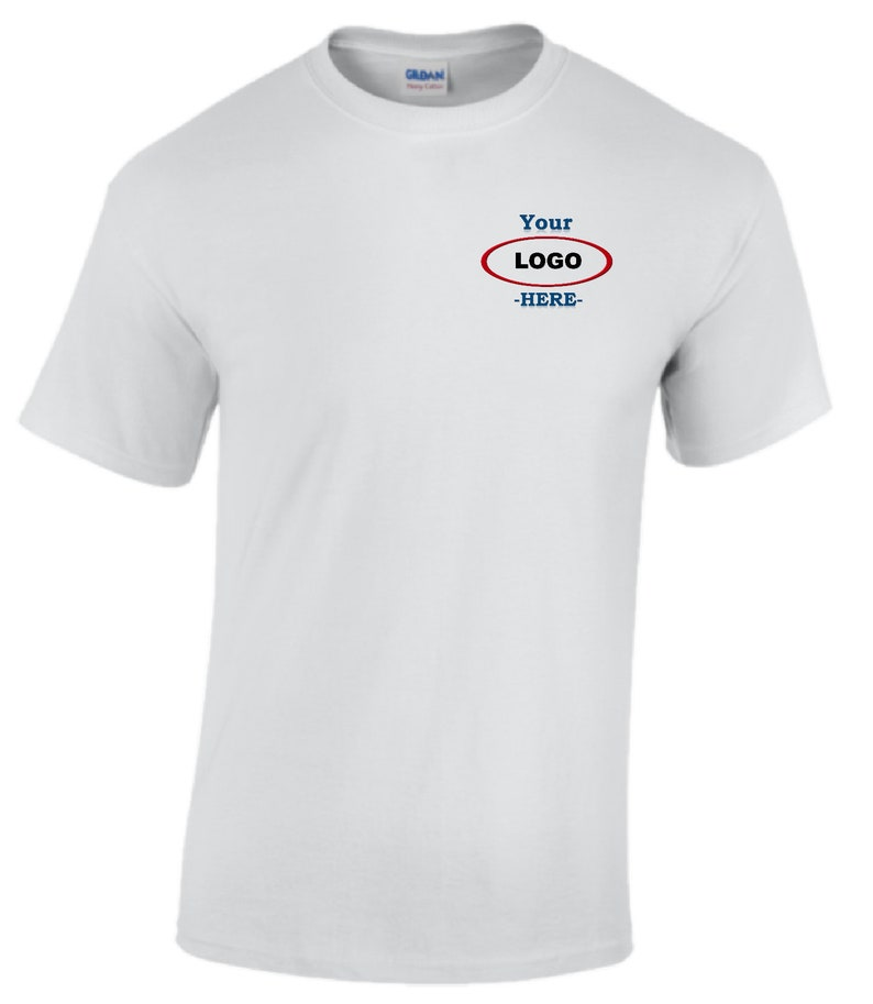 7c572630 White G500 T-Shirt 5.3oz Heavy Cotton Tshirt with 2'' | Etsy