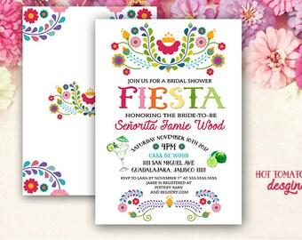 fiesta invitation fiesta bridal shower invitation cinco de mayo invitation mexican invitation margarita bachelorette printable 5x7