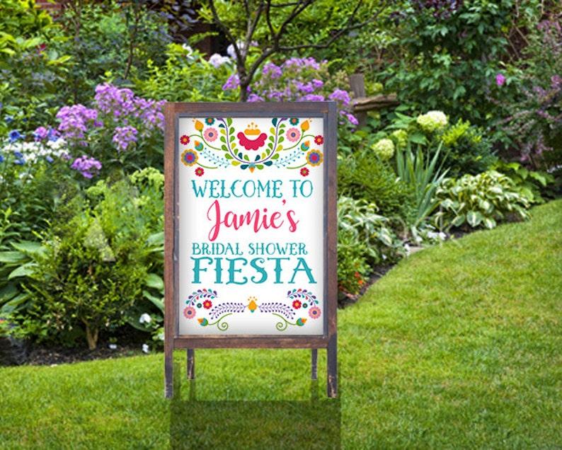 1b12a771e6a Fiesta Poster Sign Welcome Sign Fiesta Bridal Shower