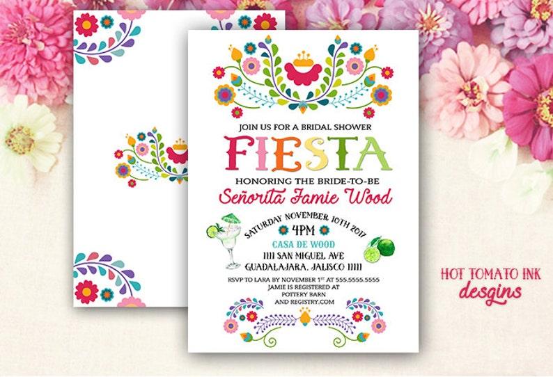 1b60f1e3ba5 Fiesta Invitation Fiesta Bridal Shower Invitation Cinco de