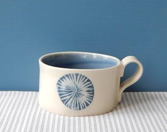 Soup mug, sand dollar collection