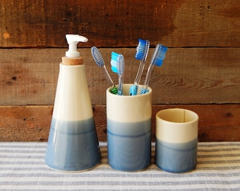 Soap dispenser, soap pump dispenser, blue pottery