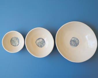 Sand dollar bowls