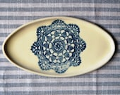 Serving platter, corals collection