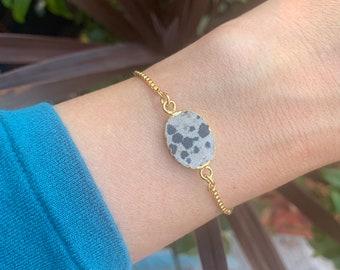 Dalmatian golden adjustable sliding chain bracelet