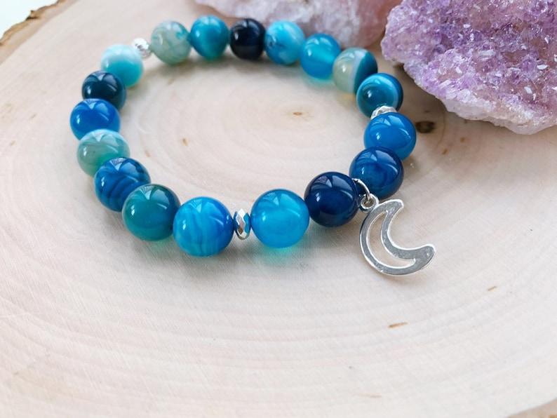 a74259281af8ee Blue Moon Vibes Bracelet | Etsy