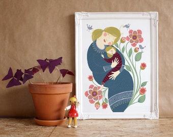 eternal love gyclee art print
