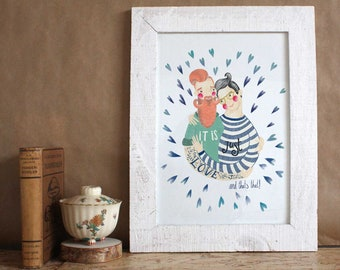 it is just love high quality giclee art print