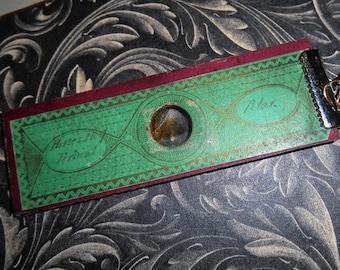 Antique Victorian Polariscope Microscope Slide Horse Treasure Necklace Geekery Steampunk Scientist