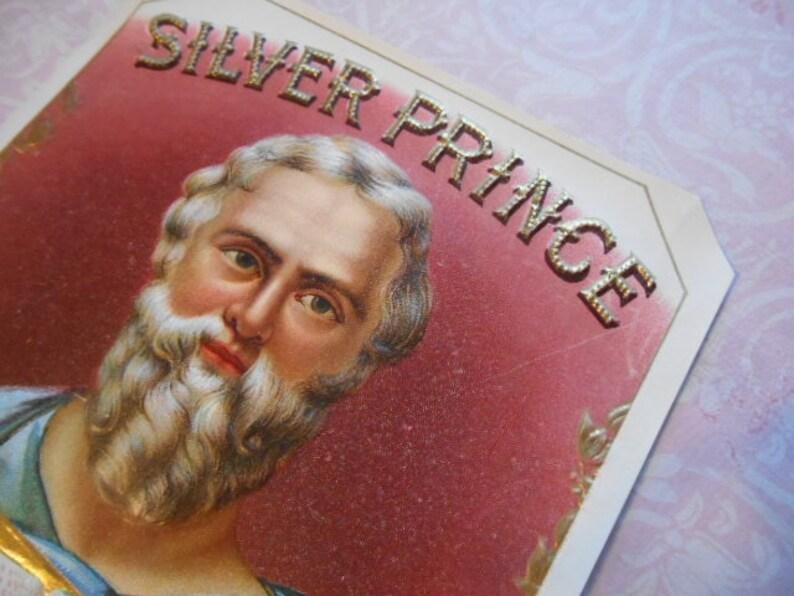 Moses Silver Prince Cigar Tobacco Label Lithograph