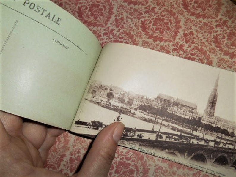 1920s Art Nouveau Bordeaux France Souvenir Postcard Booklet
