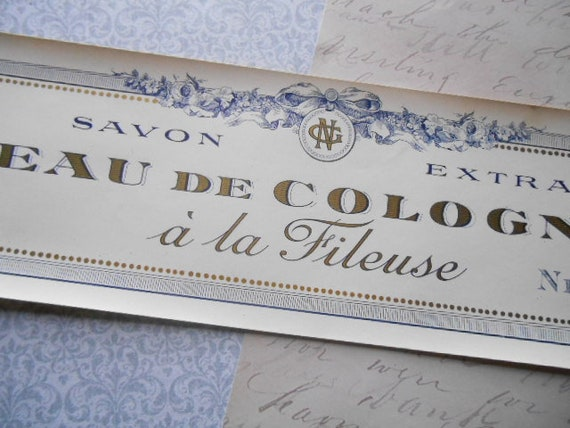 1930s Savon Extra Eau de Conogne a la Fileuse French Soap Label