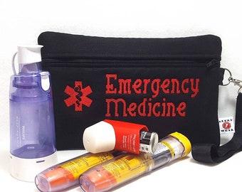 Large Insulated Medical Supply Case for Asthma Allergy Diabetic Meds - Custom Designed by Alert Wear