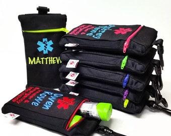 Custom Designed Clip-On Inhaler / Epi-Pen / Epilepsy / Diabetic Medicine Cases by Alert Wear