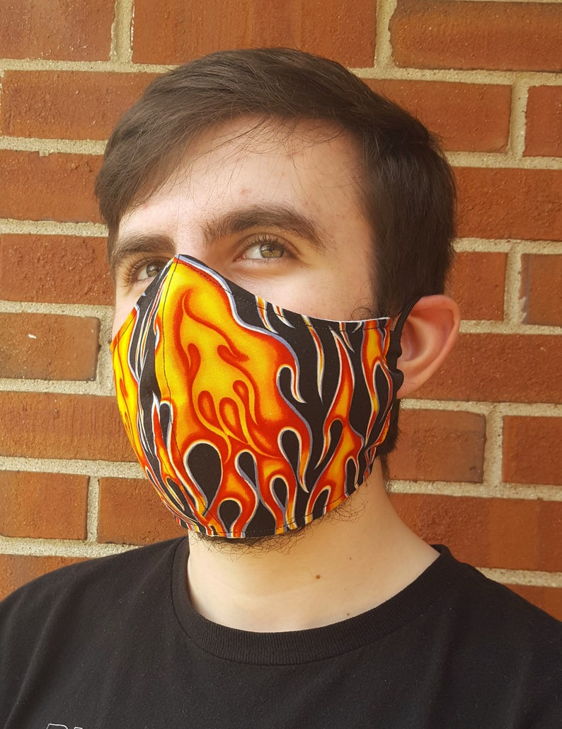 Face Mask 100% Cotton with Paracord Strap Latex-Free Easy on Flames