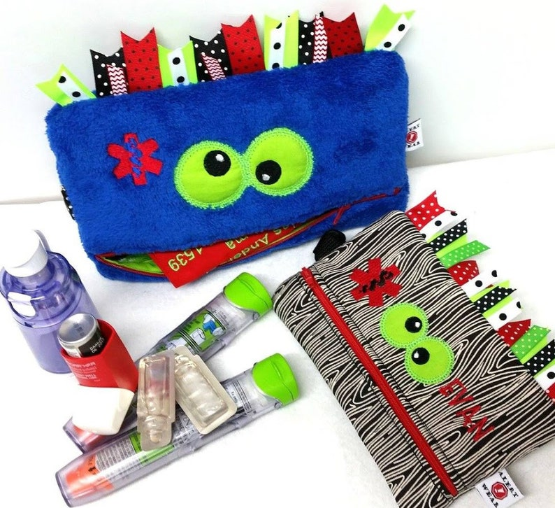EpiPen Case /  Inhaler Case / Monster Medicine Case / Custom image 0