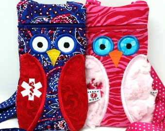 Owl Epi-Pen / Medicine Pack / Epi-Pen Case / Purse