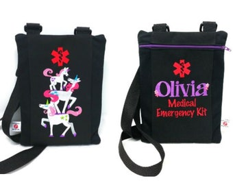 Personalized Larger Custom Inhaler / Chamber / Epi-Pen Case with Emergency Contact Information Inside by Alert Wear