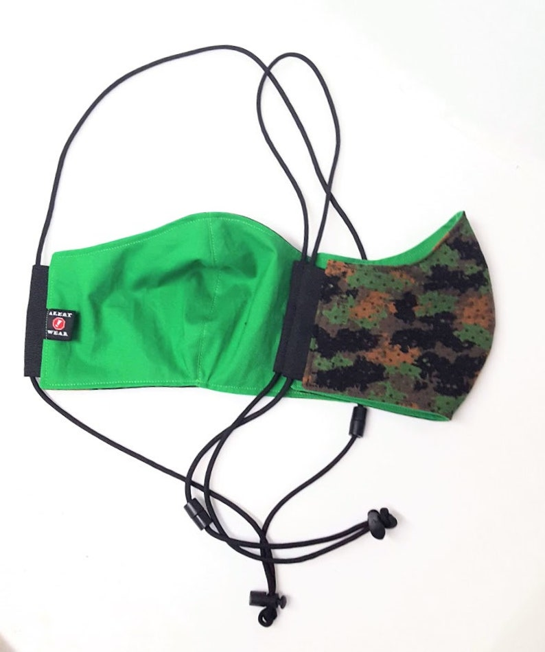 Camouflage Face Mask 100% Cotton with Paracord Strap Camouflage