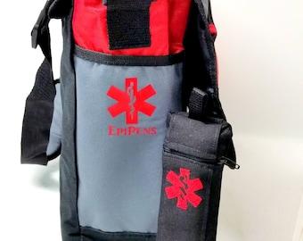 Messenger Bag / EpiPen Case / Emergency Medical Supply Case by  Alert Wear