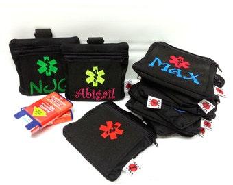 Auvi-Q Medicine Case with Belt Strap Inhaler Case First Aid Case by Alert Wear