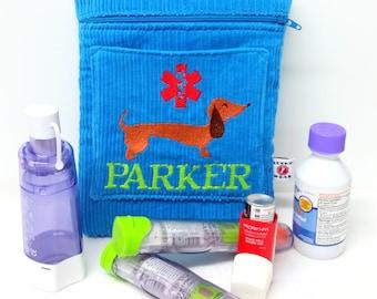 Larger Inhaler Asthma Supply Case / Medicine Pack / Epi-Pen Case / Insulated Medicine Case by Alert Wear