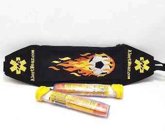 EpiPen Case Waist Pack for Soccer Lovers  / Soccer Epi Pen Belt / Soccer Fanny Pack by Alert Wear