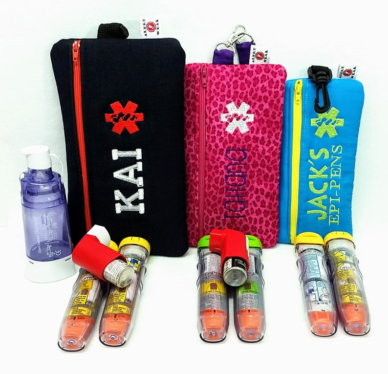 Insulated EpiPen Case Asthma Supply Case Medicine Case image 0