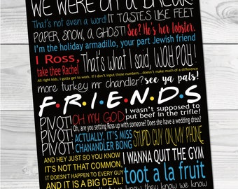 Friends Show Artwork Subway Art TV Poster Decor Frame