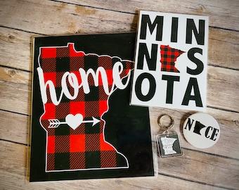 Minnesota Gift Collection, MN Love, Minnesota Decor, Minnesota Gifts, MN State, Minnesota Art, Minnesota Collection