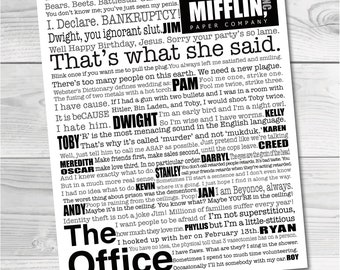 The Office Artwork. Digital Download. The Office. Subway Art. The Office TV Show. The Office Decor. The Office Show Frame. The Office Quotes