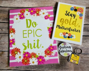 Sweary Gift Collection, Swear Word Art, Curse Word Gifts, Funny Gifts, Sweary Mom, Do Epic Shit, Swear Word Gifts