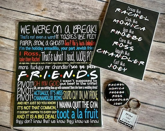 Friends Show Gift Collection, Friends Quotes, Friends Print, Friends Show, Friends Show Gifts, Friends Collection