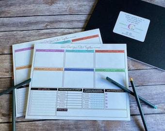 Weekly Planner, Weekly Planner Pad, Swear Planner, Calendar Pad, New Year Gift, New Year Calendar, Tear off Planner, Planner Gifts, Planner