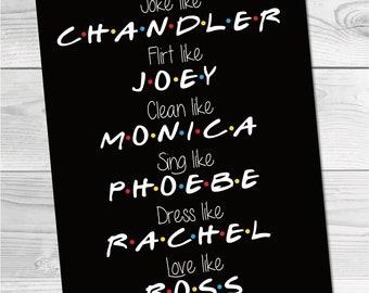 Friends Show Artwork. DIGITAL DOWNLOAD. Friends Show. Friends TV Show. Friends tv Show Poster. Friends Show Decor. Friends tv Show Frame.