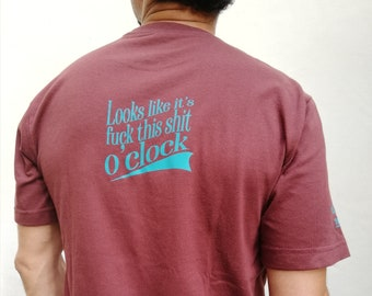Fuck T-shirt   Fuck O'clock   Printed graphic tee   FU Shirt   Shit Shirt   Custom gift tee   Shirts with messages   Halloween