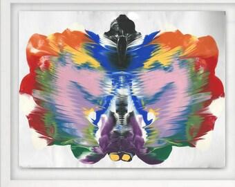 Art Abstract Decor, 8x10 Art Print, Colorful Art, Abstract Print, Abstract Art, Colorful Abstract