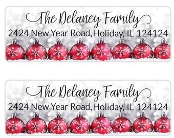 christmas address labels etsy