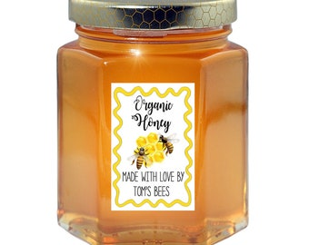 Honey Jar Labels Etsy