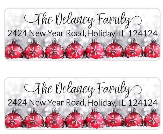 christmas address label return address label christmas etsy