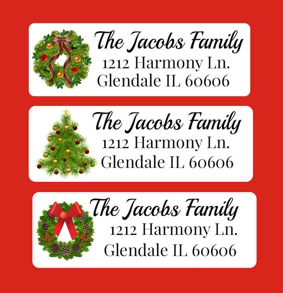 Christmas Gifts Return Address Label Christmas Card return labels Address Label Return Stickers mail labels