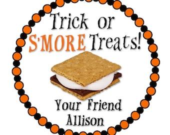 Halloween Stickers, Happy Halloween, Smore Stickers, Pumpkin Sticker, Boo Sticker, Ghost Stickers, Trick or Treat Sticker, SHEET OF 12 #1060
