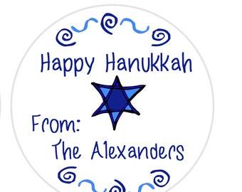Hanukkah Gift Tags, Gift Tags Star of David, Hanukkah Return Address, Dreidel tag, Hanukkah Envelope Seals SHEET OF 12 #519