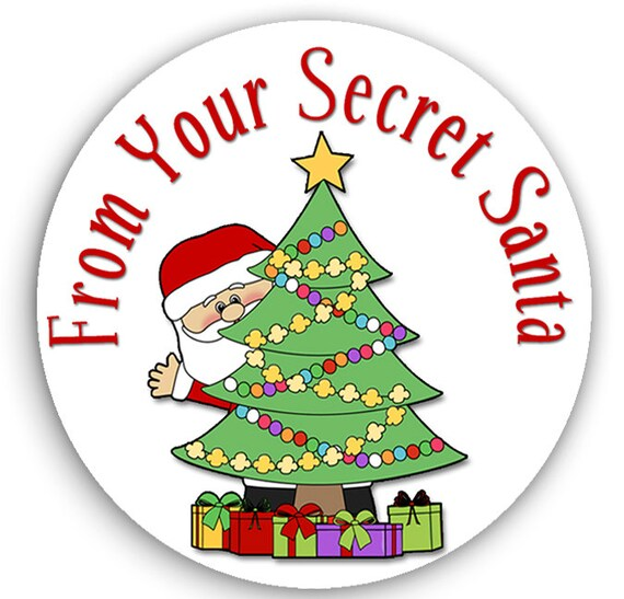 24 stickers secret santa stickers christmas gift tags etsy