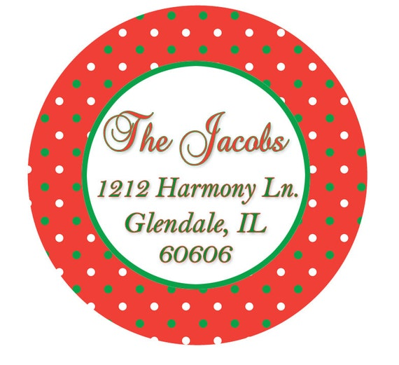 set of 24 christmas address labels return address label etsy