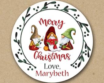 Christmas Stickers, Santa Stickers, Christmas Gift Tag, Gift Label, Delivered by Santa, Santa Christmas Tag, Envelope Seal SHEET OF 12 #1763