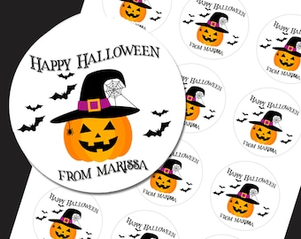 Halloween Stickers, Trick or Treat Stickers, Pumpkin Stickers, Halloween Treat Stickers, Halloween Party Favors, SHEET OF 12 #1802